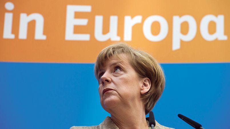 Angela Merkel, ici lundi à Berlin, a gagné son rendez-vous électoral: la CDU/CSU est arrivée en tête dimanche avec 35,3% des suffrages.