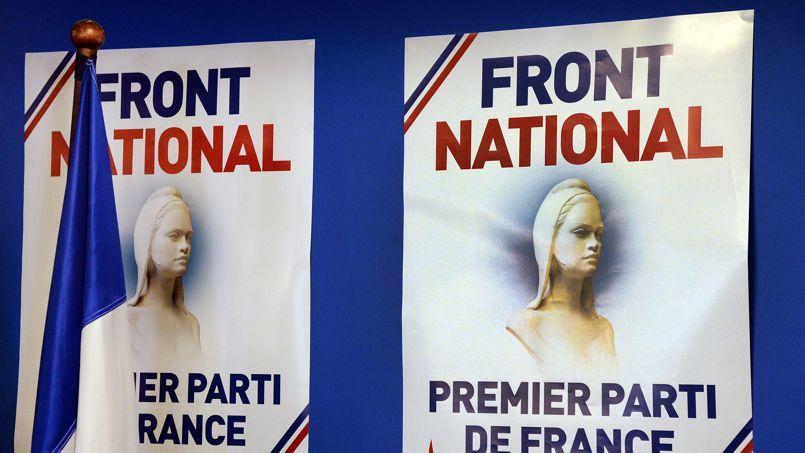 Dimanche au siège du parti à Nanterre (Hauts-de-Seine).