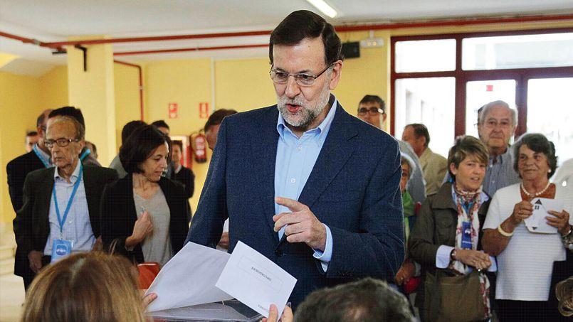 Mariano Rajoy, le premier ministre espagnol, dimanche, à Madrid.