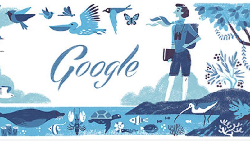 La biologiste Rachel Louise Carson est célébrée aujourd'hui par le moteur de recherche Google, à l'occasion du 107e anniversaire de sa naissance.
