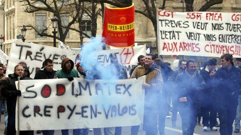 En 2010, les salariés de Sodimatex avaient obtenu gain de cause après avoir menacé de faire sauter leur usine (Crédit: Richard Vialeron/Le Figaro)