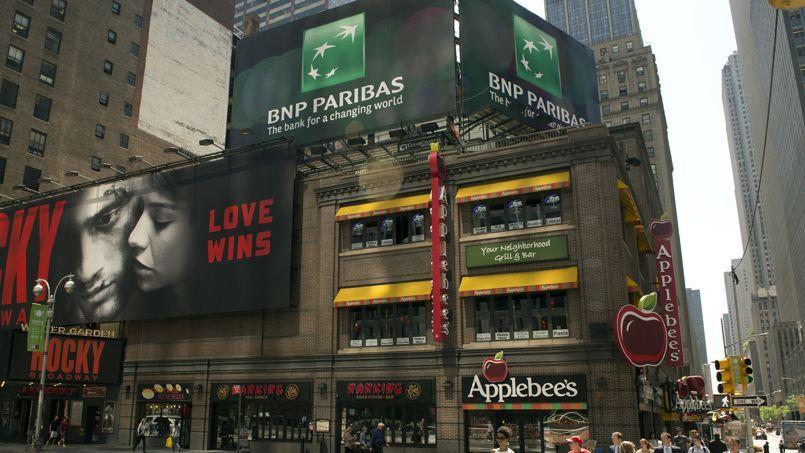 La BNP Paribas pourrait avoir à payer une amende de 10 milliards d'euros aux autorités américaines. Crédits photo: DON EMMERT/AFP