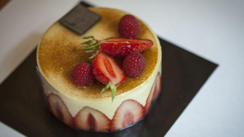 Le fraisier gagnant, celui de Carl Marletti (Ve).