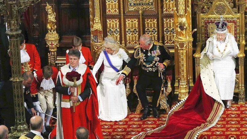 Un petit page s 39 vanouit en plein milieu du discours d 39 elizabeth ii - Chambre des lords angleterre ...