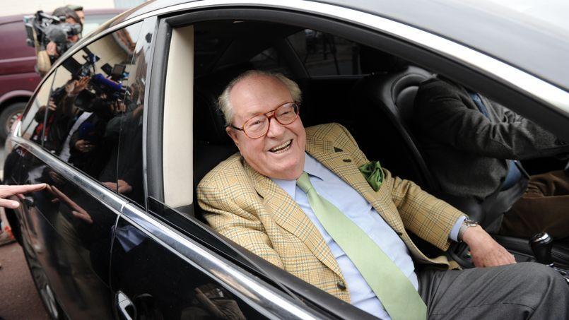 Le président d'honneur du Front national Jean-Marie Le Pen, le 26 mai 2014 à Nanterre.