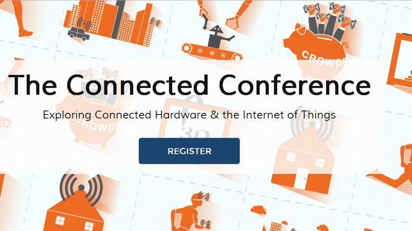 La page d'accueil de la Connected Conference, qui aura lieu le 18 et le 18 juin.