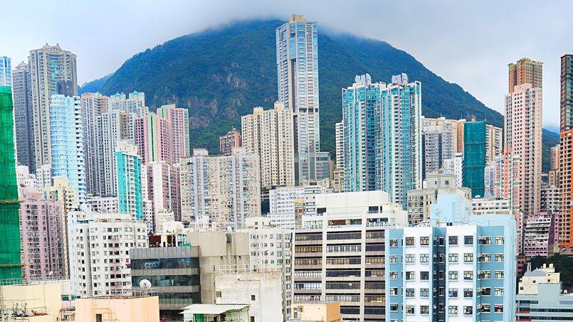 Hongkong, l'une des cités qui connaît la plus forte densité d'habitants.