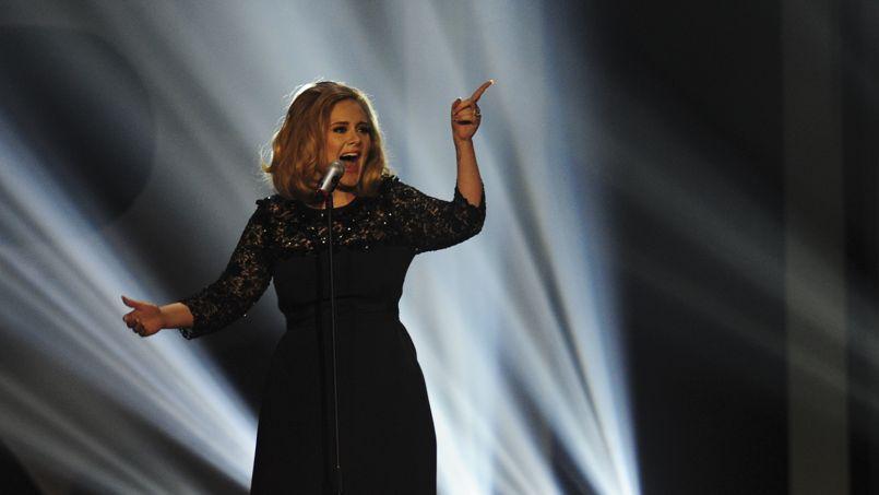 La chanteuse Adele lors des BRIT Awards 2012.