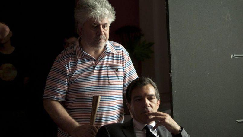 Pedro Almodovar et Antonio Banderas sur le tournage de La Piel que habito, 2010.
