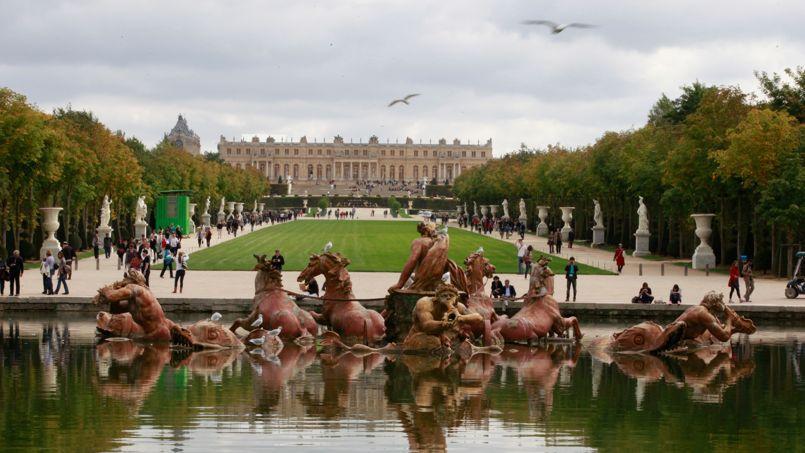 Vue des jardins du château de Versailles, en 2011.