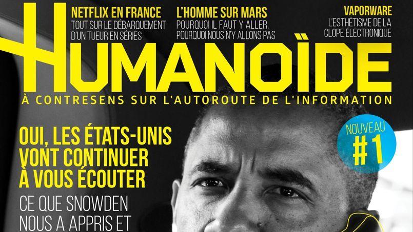 La couverture du premier numéro d'Humanoïde.