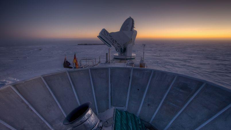 Le télescope Bicep-2 qui a enregistré un signal polarisé correspondant peut-être à la trace laissée par des ondes gravitationnelle sur la première lumière émise après le big bang.