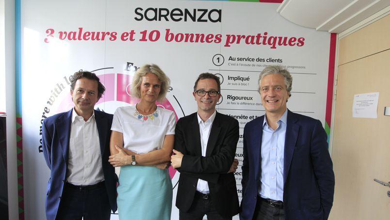 Bernard Lafonta, Hélène Boulet-Supau, Stéphane Treppoz et Jean d'Arthuys.