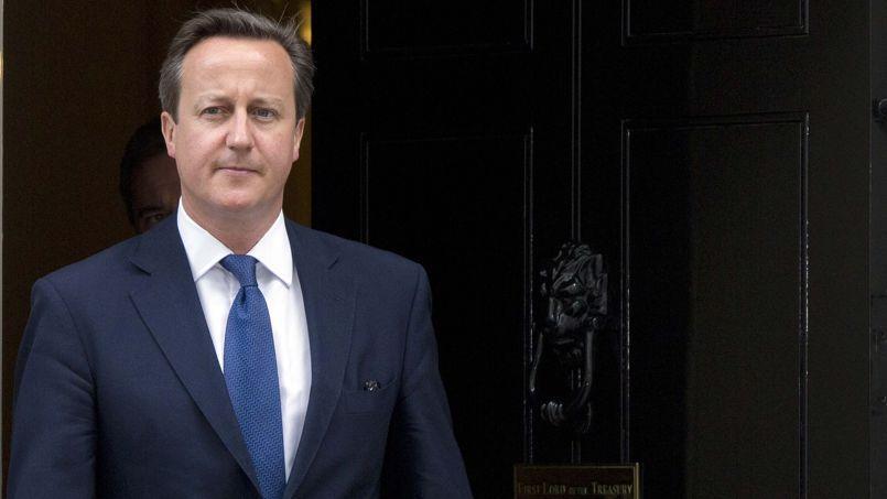 David Cameron, le 18 juin à Londres. Le premier ministre britannique estime que Jean-Claude Juncker est le prototype de l'eurocrate «fédéraliste», dépassé par le vote-sanction des Européens le 25mai.