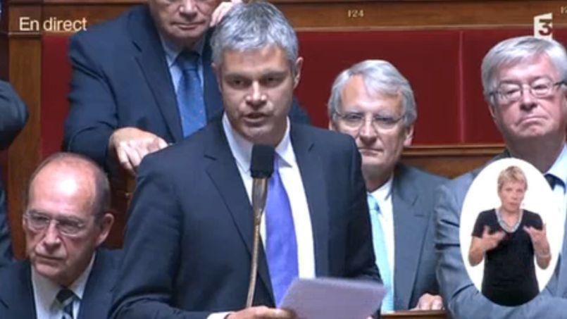 Laurent Wauquiez, député de Haute-Loire, à l'Assemblée.