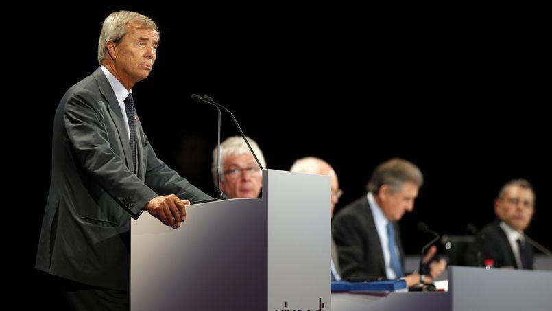 Vincent Bolloré lors de l'assemblée générale de Vivendi, le 24 juin.