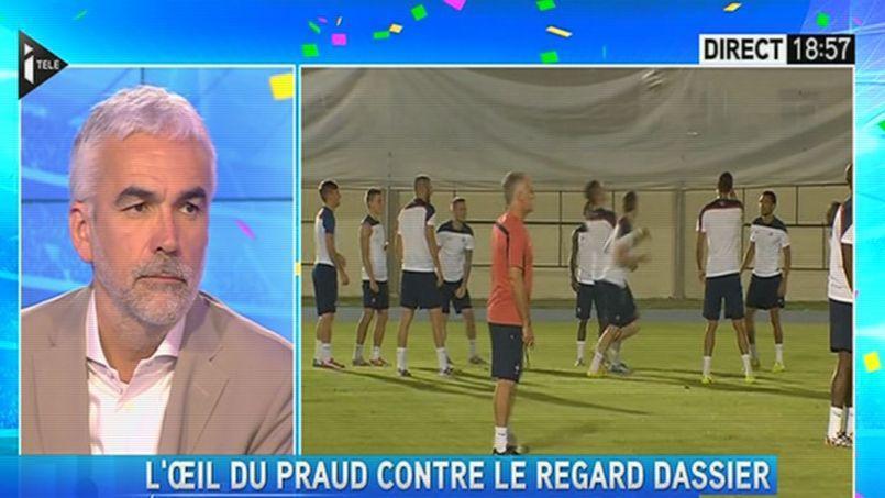 L'émission de Pascal Praud sur i-Télé a engrangé un pic d'audience à 721000 téléspectateurs pendant la mi-temps du match France-Suisse.