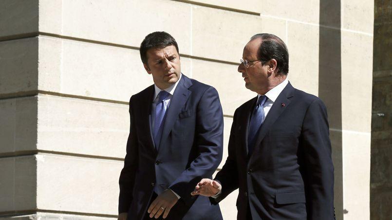 Matteo Renzi et François Hollande, le 21 juin à l'Élysée.