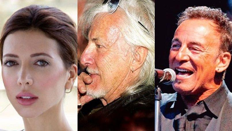 Milo Moiré, Hugues Aufray et Bruce Springsteen.