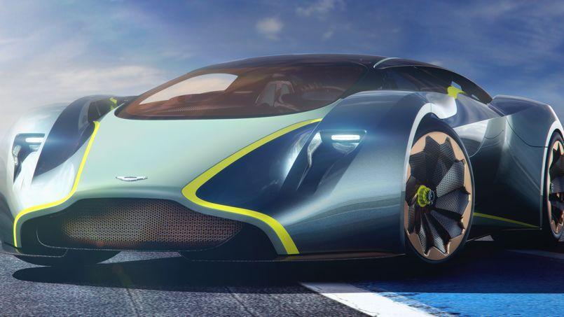 L'Aston Martin dessinée pour le jeu Gran Turismo tranche avec les lignes des modèles actuels.
