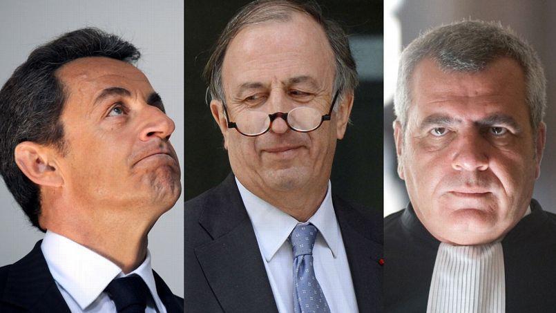 Les juges soupçonnent Thierry Herzog et Nicolas Sarkozy, qui encadrent ici Me Iweins, d'avoir tenté d'obtenir illégalement des informations protégées par le secret de l'instruction concernant l'affaire Bettencourt.