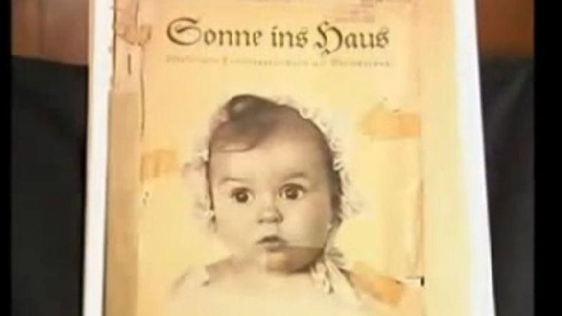 Hessy Taft, née Levinsons, en couverture d'un magazine nazi. Capture d'écran d'une vidéo Youtube.