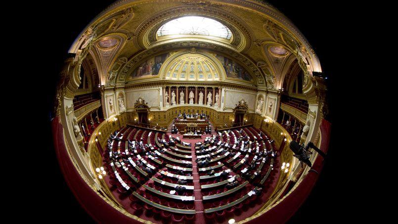 Vue de l'hémicycle du Sénat.