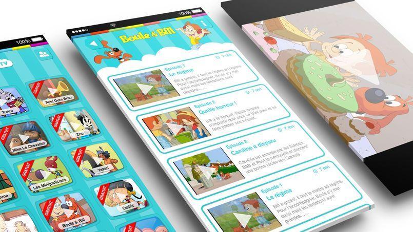 L'application est disponible sur les mobiles et les tablettes
