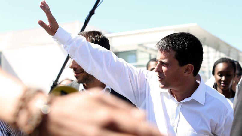 Manuel Valls, l'année dernière à La Rochelle pour l'univesité d'été de son parti