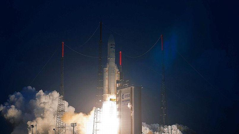 La future Ariane 6 est destinée à remplacer Ariane 5, ici lors de son lancement depuis Kourou le 6 février dernier.
