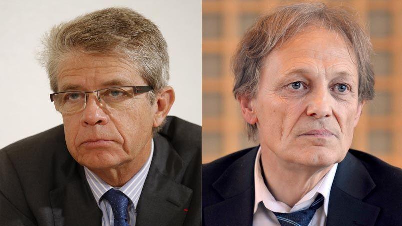 Francis Morel, à gauche, et Georges Sanerot, à droite.