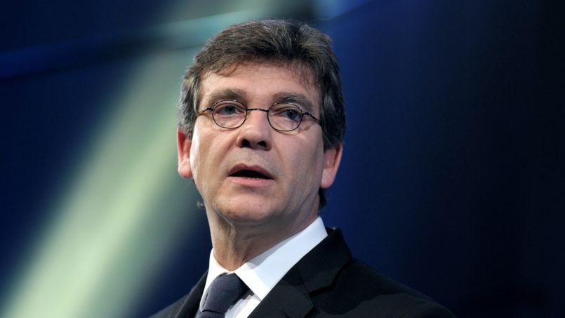 Arnaud Montebourg, ministre de l'Economie, lors de son discours.