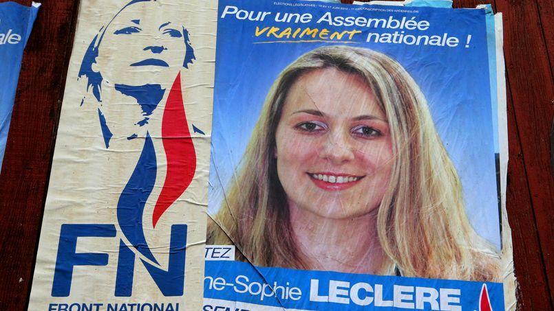 Anne-Sophie Leclère avait été exclue du FN le 3 décembre.