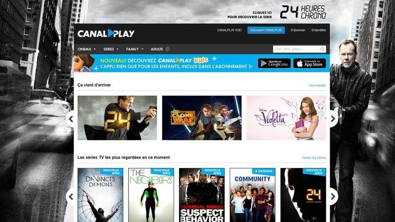 Canal + a lancé CanalPlay son propre service de vidéo à la demande.