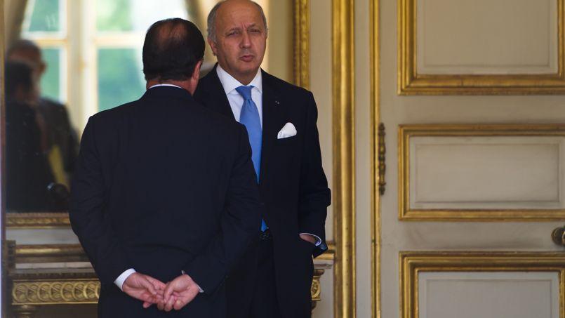 François Hollande et Laurent Fabius à l'Élysée en juin dernier
