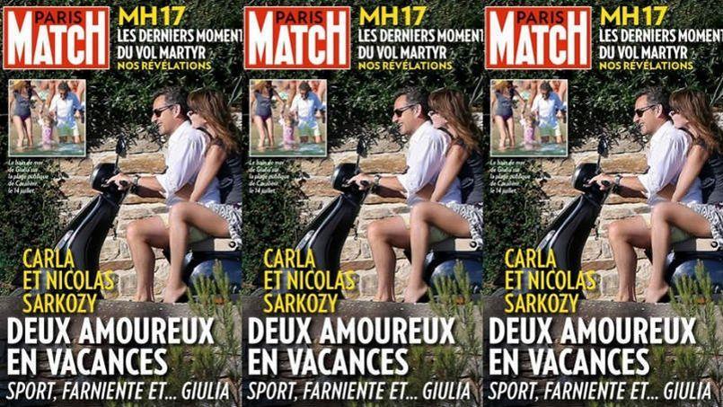 Sarkozy dans Paris Match à scooter... et sans casque