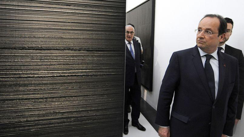 François Hollande à l'inauguration du musée Soulages, le 30 mai 2014.