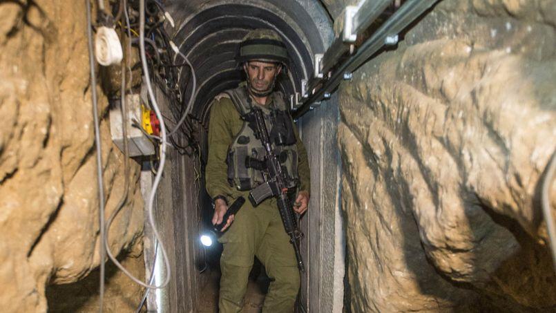 L'armée israélienne a organisé une visite guidée pour la presse de l'une de ces galeries surnommées «le Gaza sous Gaza».