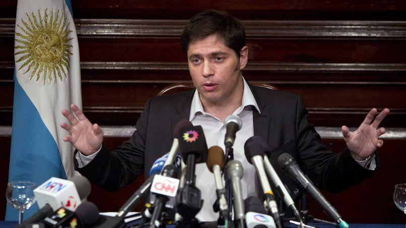 Le ministre argentin de l'Économie Axel Kicillof, le 30 juillet à New York.