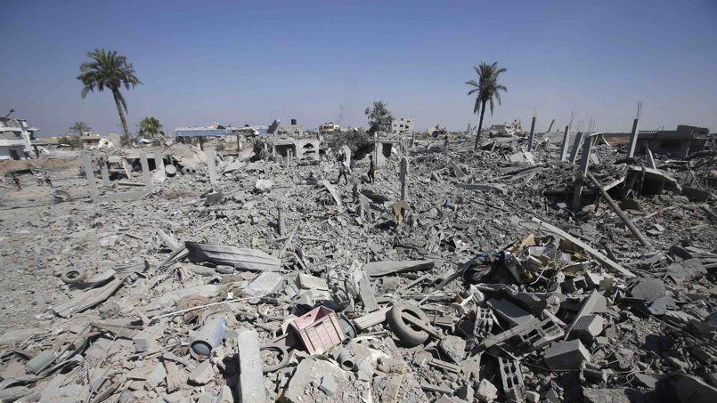 L'est de la cité de Khan Younis a été très violemment touché par les raids de l'aviation israélienne.