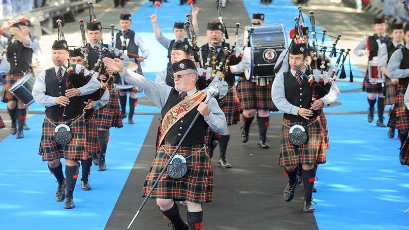 Grande Parade du festival interceltique, en 2013.