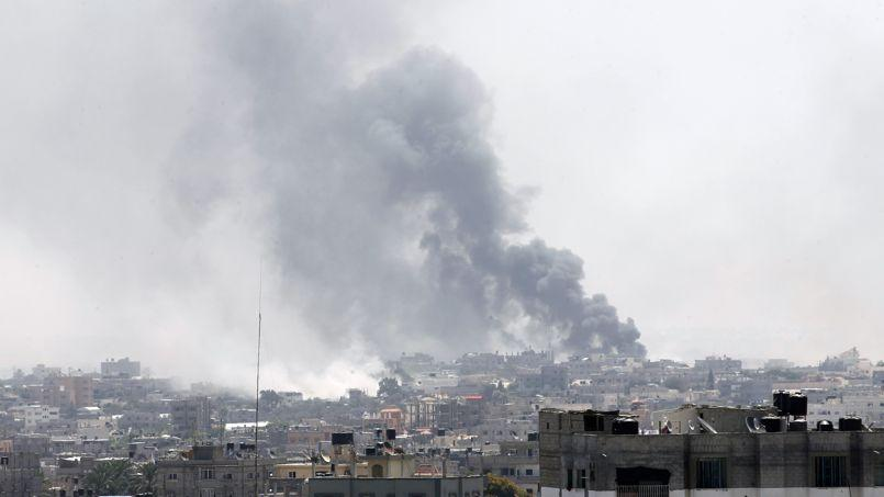 Gaza, vendredi matin, après les frappes israéliennes..
