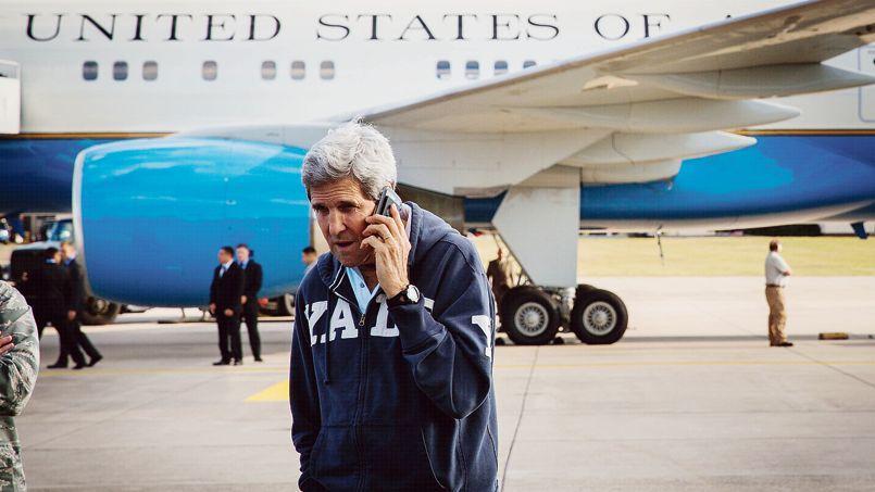 Le secrétaire d'État américain, John Kerry, ici le 1er août sur la base de Ramstein, aurait aussi été écouté par les Russes et les Chinois, selon Der Spiegel.