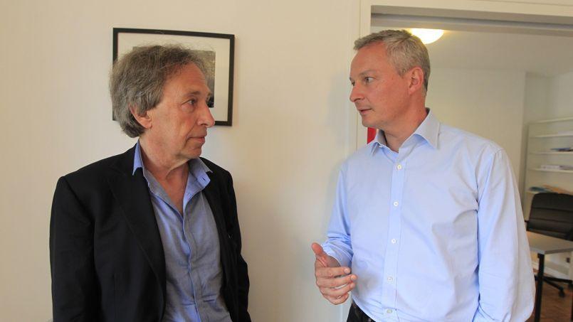 Pascal Bruckner et Bruno Le Maire.
