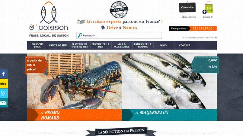 ÔPOISSON s'est lancé dans le drive il y a deux mois. Il propose des produits de la mer de saison dans la région de Nantes. Crédits photo: D.R.
