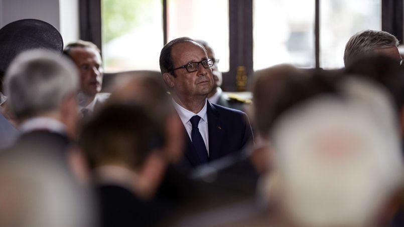 François Hollande à Liège, le 4 août.