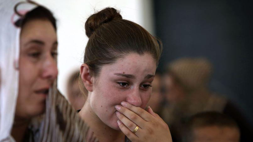 Des chrétiens réfugiés irakiens à Dahuk, le 5 août.