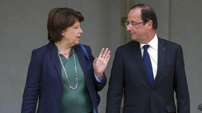 Martine Aubryet François Hollande, en juin 2012 à l'Élysée.