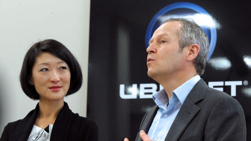Fleur Pellerin, alors Ministre déléguée aux PME, à l'Innovation et à l'Économie numérique et Yves Guillemot, PDG d'Ubisoft, en 2012.