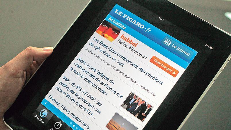 L'application du figaro.fr pour tablettes a atteint 5,9 millions de visites en juillet, soit une progression de 6% sur un mois.